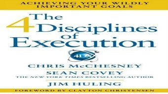 4 disciplines of execution book cover