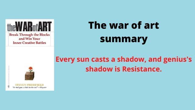 the war of art summary